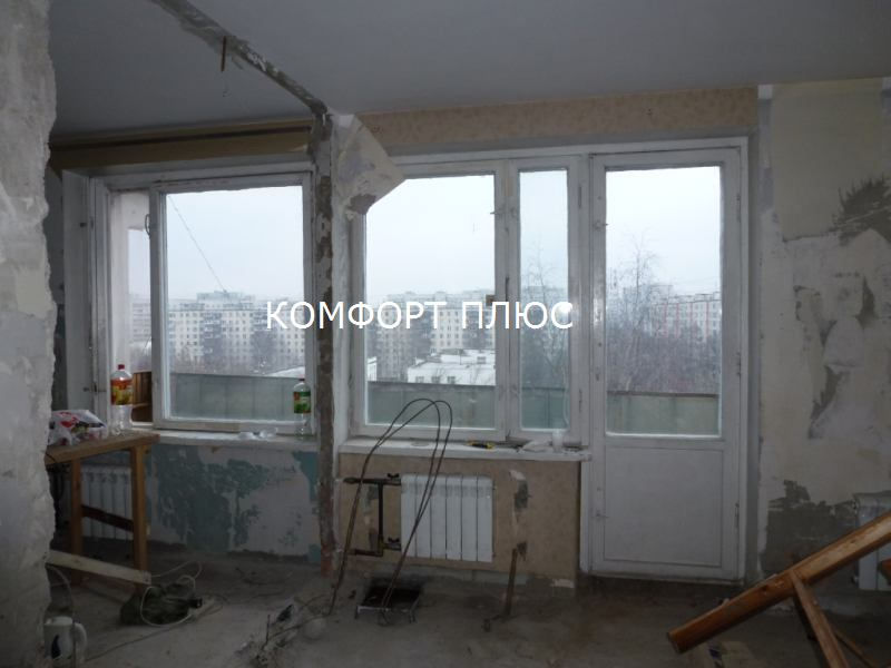 Крыша на лоджии дома серии копэ..
